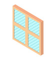 square window frame icon isometric 3d style vector image vector image