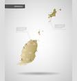 stylized grenada map vector image