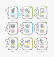 tablet pc credit card and statistics icons vector image