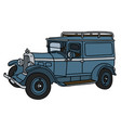 the vintage service car vector image vector image