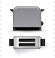 Toaster Icons Top and Side View vector image vector image