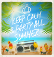 Tropical beach summer party - vintage design vector image vector image