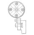 turning belt pulleys vintage vector image vector image