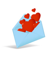 Valentine's envelope vector image vector image
