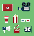 Video and Movie icons set vector image