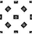 video player pattern seamless black vector image vector image