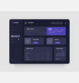 wireframes screens dashboard ui and ux kit design vector image