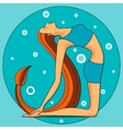 Yoga in the camel pose vector image