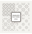 Set of seamless patterns from dot stars and vector image