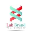 bio technology biology design DNA logo template vector image