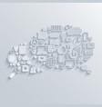 modern bubble speech icons set vector image