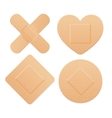 Aid Band Plaster Strip Medical Patch Set vector image vector image