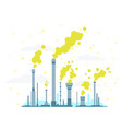 air pollution from industrial pipes vector image vector image