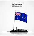 australia naional day vector image vector image