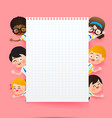 back to school and education concept happy vector image vector image