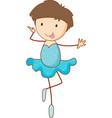 ballet girl cartoon character in hand drawn vector image