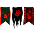 banners with red palms vector image vector image