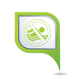 beach closed symbol on green map pointer vector image vector image