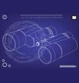 binoculars on a blue vector image vector image