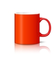 Blank bright red photo realistic cup isolated on vector image vector image