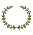 branch wreath icon cartoon style vector image vector image