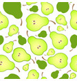 bright seamless pattern background of halved ripe vector image