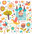Child seamless pattern vector image
