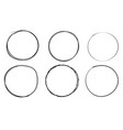 circles hand drawn shapes doodle style vector image
