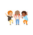 classmates mocking sad boy bad behavior conflict vector image vector image