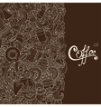 Coffee Sketch Notebook Doodles vector image vector image