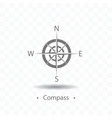 compass or wind rose icon on vector image vector image