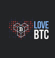 concept for bitcoin lover vector image vector image