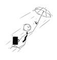 conceptual cartoon of businessman creative vector image