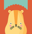 cute lion snout flat adorable vector image