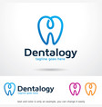dentalogy logo template design emblem design vector image