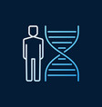 dna with human colored linear icon or logo vector image vector image