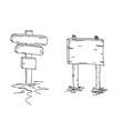 double arrows hand drawn sketch vector image vector image