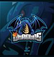 dragon sport mascot logo design vector image
