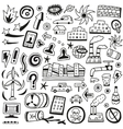 ecology doodles vector image