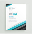 elegant annual report brochure design template vector image vector image