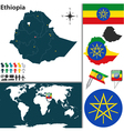 Ethiopia map vector image vector image