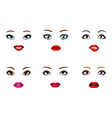 fashion girls stylish woman lips slightly open vector image