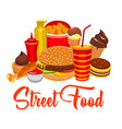 fast food snacks street food burgers vector image