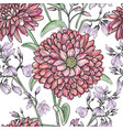 floral watercolor seamless pattern flower vector image vector image