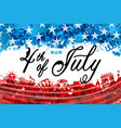 fourth july independence day usa lettering vector image vector image