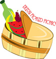 Fresh Picked Picnic vector image