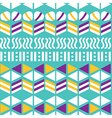 Geometric seamless pattern hand-drawing vector image vector image