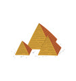 great pyramids egypt traditional egyptian vector image