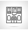 Hostel facade black line design icon vector image vector image