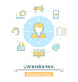 icon cross-channel omnichannel online vector image vector image